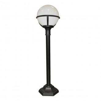 ELSTEAD GLENBEIGH PILLAR | Glenbeigh Elstead álló lámpa 106cm tengerpartra tervezve 1x E27 IP44 UV fekete, opál