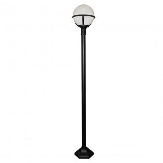 ELSTEAD GLENBEIGH POST | Glenbeigh Elstead álló lámpa 181cm tengerpartra tervezve 1x E27 IP44 UV fekete, opál