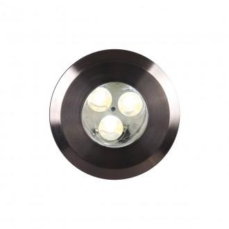 ELSTEAD GZ/FUSION1 | Bronze-Elite-Fusion Elstead beépíthető lámpa Ø90mm 90x90mm 3x LED 300lm 3000K IP65 nemesacél, rozsdamentes acél, átlátszó