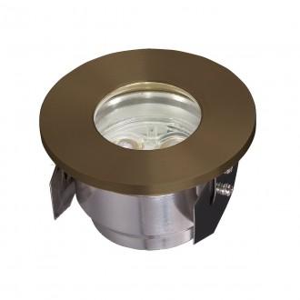 ELSTEAD GZ/FUSION2 | Bronze-Elite-Fusion Elstead beépíthető lámpa Ø90mm 90x90mm 3x LED 300lm 3000K IP65 sárgaréz, átlátszó
