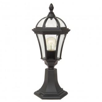ELSTEAD GZH-LB3 | Ledbury Elstead álló lámpa 47,5cm 1x E27 IP44 fekete, átlátszó