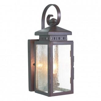 ELSTEAD HYTHE | Hythe Elstead fali lámpa 1x E14 IP43 antikolt bronz, buborékos hatás