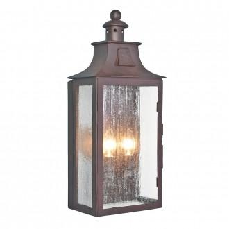 ELSTEAD KENDAL | Balmoral-Kendal-Stow Elstead fali lámpa 2x E14 IP44 antikolt bronz, buborékos hatás