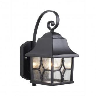 ELSTEAD KENT | Kent-EL Elstead falikar lámpa 1x E27 IP44 fekete, átlátszó