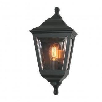 ELSTEAD KERRY FLUSH | Kerry Elstead fali lámpa tengerpartra tervezve 1x E27 IP44 UV fekete, átlátszó