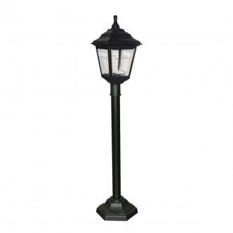 ELSTEAD KERRY PILLAR | Kerry Elstead álló lámpa 116cm tengerpartra tervezve 1x E27 IP44 UV fekete, átlátszó