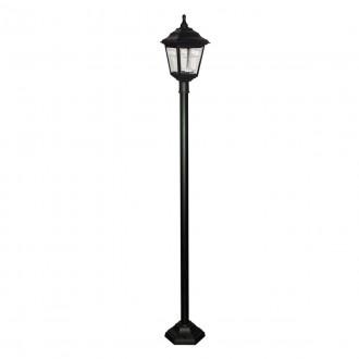 ELSTEAD KERRY POST | Kerry Elstead álló lámpa 191cm tengerpartra tervezve 1x E27 IP44 UV fekete, átlátszó
