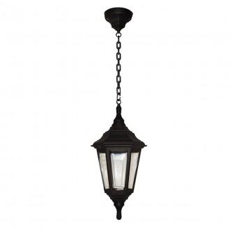 ELSTEAD KINSALE CHAIN | Kinsale Elstead függeszték lámpa tengerpartra tervezve 1x E27 IP44 UV fekete, átlátszó
