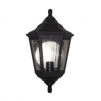 ELSTEAD KINSALE FLUSH | Kinsale Elstead fali lámpa tengerpartra tervezve 1x E27 IP44 UV fekete, átlátszó