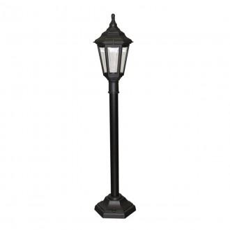 ELSTEAD KINSALE PILLAR | Kinsale Elstead álló lámpa 118cm tengerpartra tervezve 1x E27 IP44 UV fekete, átlátszó