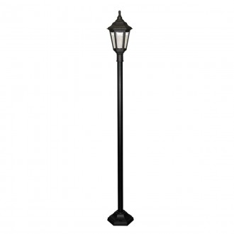ELSTEAD KINSALE POST | Kinsale Elstead álló lámpa 193cm tengerpartra tervezve 1x E27 IP44 UV fekete, átlátszó