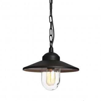 ELSTEAD KLAMPENBORG8 BK | Klampenborg Elstead függeszték lámpa 1x E27 IP44 matt fekete, átlátszó