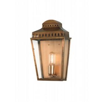 ELSTEAD MANSION HOUSE BR | Mansion-House Elstead fali lámpa tengerpartra tervezve, kézzel készült 1x E27 IP44 UV antikolt réz, átlátszó