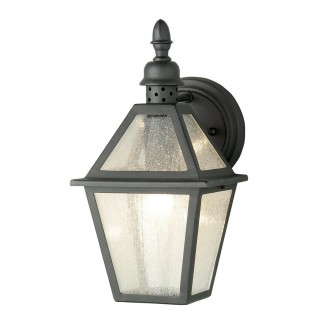 ELSTEAD POLRUAN | Polruan Elstead falikar lámpa 1x E27 IP44 fekete, buborékos hatás
