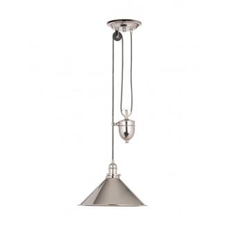 ELSTEAD PV-P-PN | Provence-EL Elstead függeszték lámpa ellensúlyos, állítható magasság 1x E27 fényes nikkel