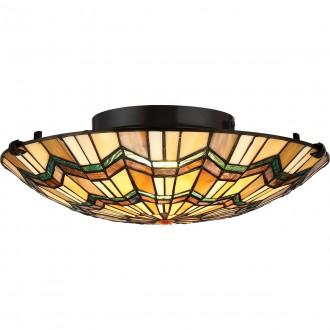 ELSTEAD QZ/ALCOTT/F | Alcott Elstead mennyezeti lámpa 2x E27 bronzbarna, többszínű