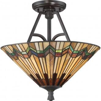 ELSTEAD QZ/ALCOTT/SF | Alcott Elstead mennyezeti lámpa 2x E27 bronzbarna, többszínű