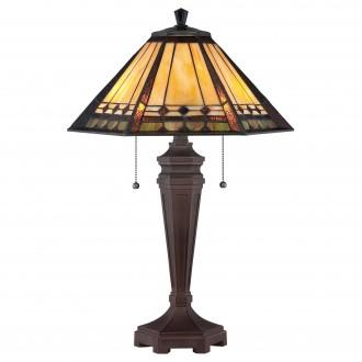 ELSTEAD QZ/ARDEN/TL | Arden Elstead asztali lámpa 59,7cm kapcsoló 2x E27 antikolt bronz, többszínű
