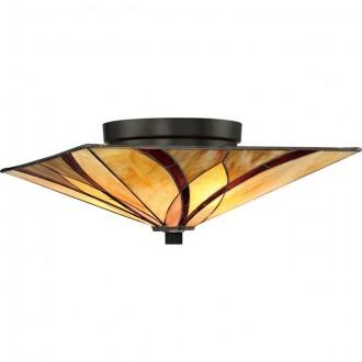 ELSTEAD QZ/ASHEVILLE/F | Asheville Elstead mennyezeti lámpa 2x E27 bronzbarna, többszínű