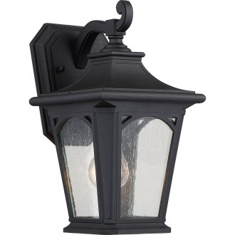 ELSTEAD QZ/BEDFORD2/S | Bedford-EL Elstead falikar lámpa tengerpartra tervezve 1x E27 IP44 UV fekete, buborékos hatás
