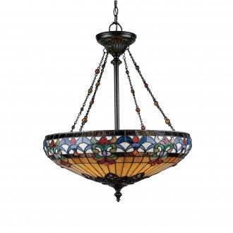 ELSTEAD QZ-BELLE-FLEUR-P | Belle-Fleur Elstead függeszték lámpa kézzel készült 4x E27 bronzbarna, többszínű