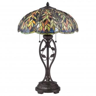 ELSTEAD QZ-BELLE-TL | Belle Elstead asztali lámpa 64,8cm vezeték kapcsoló kézzel készült 2x E27 bronzbarna, többszínű