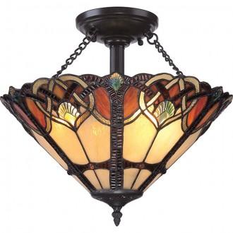 ELSTEAD QZ/CAMBRIDGE/SF | Cambridge-EL Elstead mennyezeti lámpa 2x E27 bronzbarna, többszínű