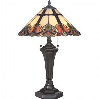 ELSTEAD QZ/CAMBRIDGE/TL | Cambridge-EL Elstead asztali lámpa 59,7cm kapcsoló 2x E27 bronzbarna, többszínű