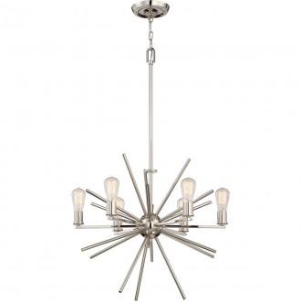 ELSTEAD QZ-CARNEGIE6-IS | Carnegie Elstead függeszték lámpa állítható magasság 6x E27 ezüst