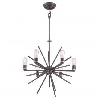 ELSTEAD QZ/CARNEGIE6 | Carnegie Elstead függeszték lámpa állítható magasság 6x E27 bronz
