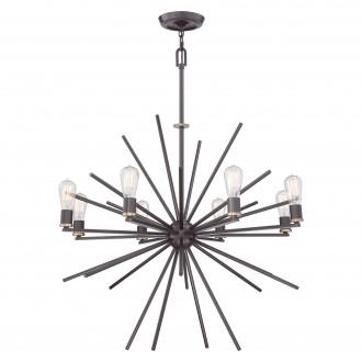 ELSTEAD QZ/CARNEGIE8 | Carnegie Elstead függeszték lámpa állítható magasság 8x E27 bronz