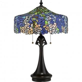 ELSTEAD QZ-COBALT-TL | Cobalt Elstead asztali lámpa 69cm húzókapcsoló 3x E27 bronzbarna, többszínű