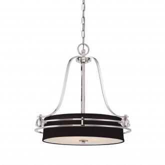 ELSTEAD QZ/GOTHAM/P | Gotham Elstead függeszték lámpa 4x E27 ezüst, fekete, átlátszó