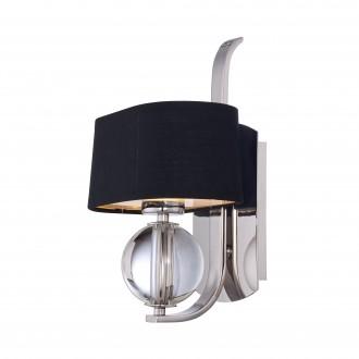 ELSTEAD QZ/GOTHAM1 | Gotham Elstead falikar lámpa 1x G9 320lm 3000K ezüst, fekete, átlátszó