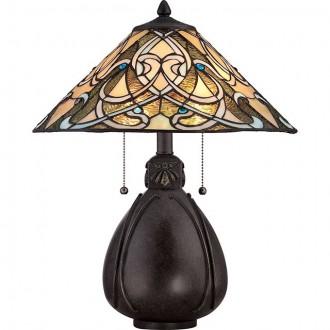 ELSTEAD QZ-INDIA-TL | India-EL Elstead asztali lámpa 49,5cm kapcsoló 2x E27 bronzbarna, többszínű