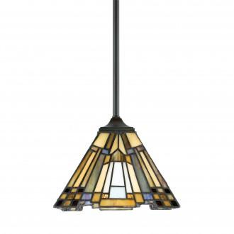 ELSTEAD QZ/INGLENOOK/MP | Inglenook Elstead függeszték lámpa 1x E27 bronzbarna, többszínű