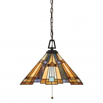ELSTEAD QZ/INGLENOOK/P/A | Inglenook Elstead függeszték lámpa 3x E27 bronzbarna, többszínű