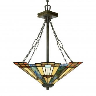 ELSTEAD QZ/INGLENOOK/P/B | Inglenook Elstead függeszték lámpa 3x E27 bronzbarna, többszínű