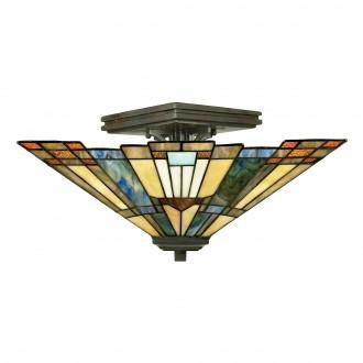 ELSTEAD QZ/INGLENOOK/SF | Inglenook Elstead mennyezeti lámpa 2x E27 bronzbarna, többszínű