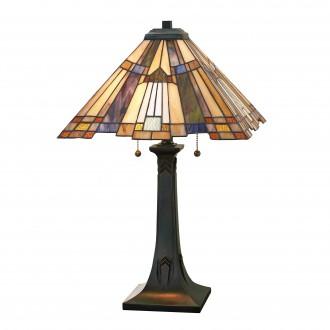 ELSTEAD QZ/INGLENOOK/TL | Inglenook Elstead asztali lámpa 63,5cm kapcsoló 2x E27 bronzbarna, többszínű