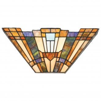 ELSTEAD QZ/INGLENOOK/WU | Inglenook Elstead fali lámpa 2x E14 bronzbarna, többszínű