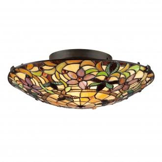 ELSTEAD QZ/KAMI/F | Kami-EL Elstead mennyezeti lámpa kézzel készült 2x E27 bronzbarna, többszínű