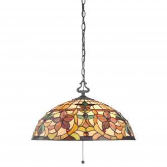 ELSTEAD QZ/KAMI/P | Kami-EL Elstead függeszték lámpa kézzel készült 3x E27 bronzbarna, többszínű