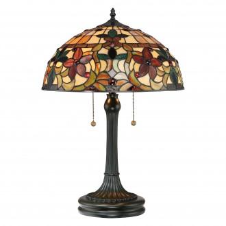 ELSTEAD QZ/KAMI/TL | Kami-EL Elstead asztali lámpa 58,4cm kapcsoló kézzel készült 2x E27 bronzbarna, többszínű
