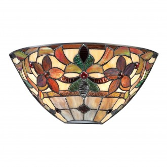 ELSTEAD QZ-KAMI-WU | Kami-EL Elstead fali lámpa kézzel készült 2x E14 bronzbarna, többszínű