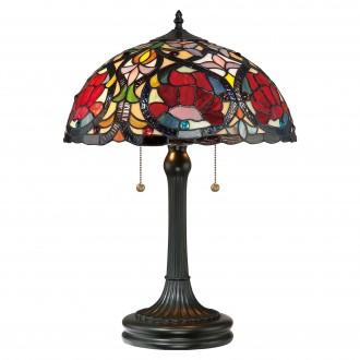 ELSTEAD QZ-LARISSA-TL | Larissa-EL Elstead asztali lámpa 58,4cm 2x húzókapcsoló kézzel készült 2x E27 bronzbarna, többszínű