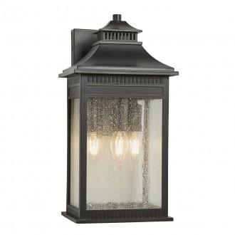 ELSTEAD QZ/LIVINGSTON2/L | Livingston Elstead fali lámpa tengerpartra tervezve 3x E14 IP44 UV bronzbarna, buborékos hatás