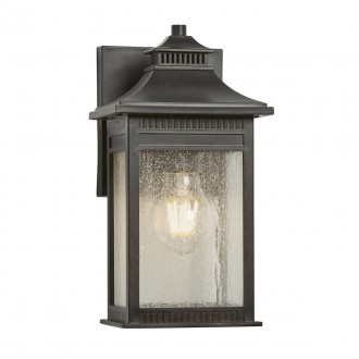 ELSTEAD QZ/LIVINGSTON2/S | Livingston Elstead fali lámpa tengerpartra tervezve 1x E27 IP44 UV bronzbarna, buborékos hatás