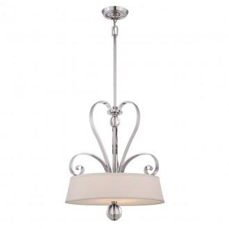 ELSTEAD QZ-MADISON-MANOR-P-IS | Madison-Manor Elstead függeszték lámpa állítható magasság 4x E27 ezüst, fehér, átlátszó