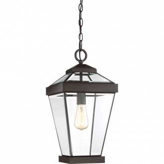 ELSTEAD QZ-RAVINE8-L | Ravine Elstead függeszték lámpa 1x E27 IP23 bronz, átlátszó